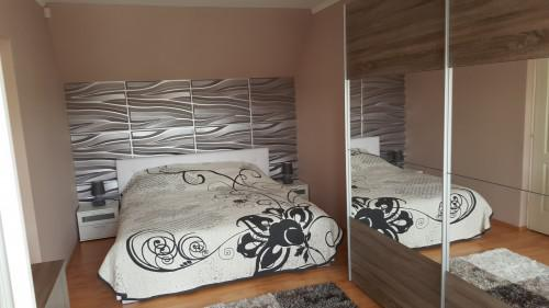 albert 3d falpanel, gipszfalpanel, hálószoba dekoráció