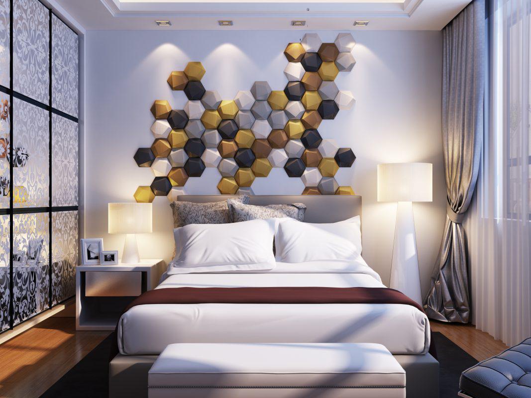 rocky 3d falpanel, gipszfalpanel, hálószoba dekoráció