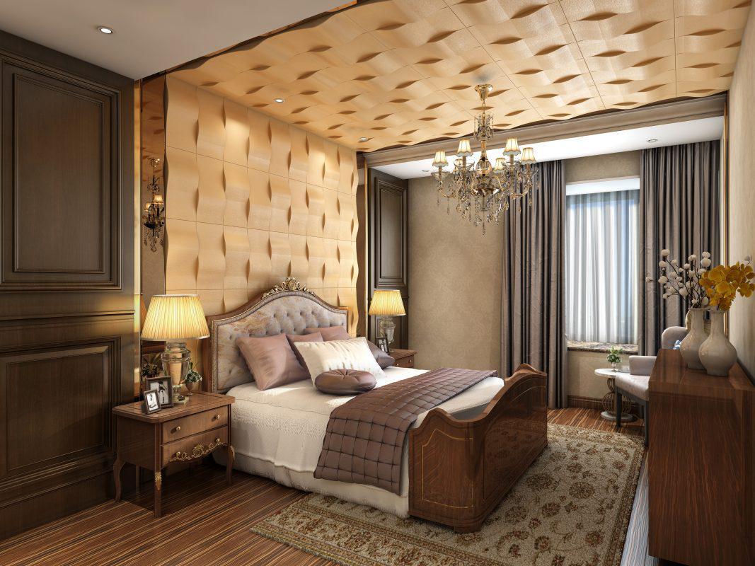 silk-road 3d falpanel, gipszfalpanel, hálószoba dekoráció